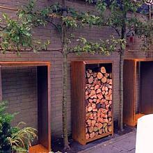 Woodstorage 100x40x180 cm Corten