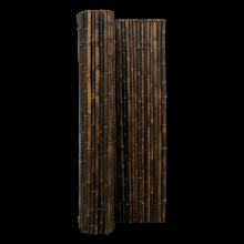 Bamboemat op Rol Zwart  250x150 cm stuk